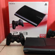 PS3 Super Slim Hardisk 500GB Top Banget,Lkp 2 Stik+100 Judul Game