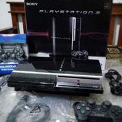 Console PS3 Fullset Isi 100 Game + 2 Stik Siap Main