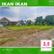 Tanah Kavling Luas 171 Daerah Ikan Tombro Suhat Kota Malang _ 018.20