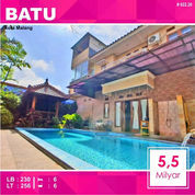 Rumah Villa + Kolam Luas 256 Di Kusuma Estate Kota Batu Malang _ 022.20 (23119567) di Kota Malang