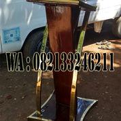 Podium Minimalis Stainless Stell Gold Mewah (23132139) di Kab. Jepara