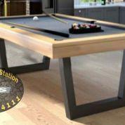 Meja Billiard 7ft Bola Tanggung Elegant Modern & Simple Rangka Besi