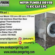 Mesin Pengering Pakaian / Tumble Dryer Kapasitas 35 Kg GAS (23138571) di Kab. Sidoarjo