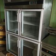 STAINLESS STEEL UPRIGHT GLASS 4 DOOR (BEKAS)