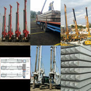 Pancang Paku Bumi, Alat In Jack Hydraulic, Diesel Hammer, Drop Hammer, Tiang Beton Pracetak K500. (23154023) di Kota Surakarta