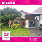 Rumah Luas 300 Di Jalan Kembar PBI Araya Kota Malang _ 361.18