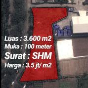 Tanah 3.600m2 Dijalan Pemda Tigaraksa Kec Cikupa Kab Tangerang (23236455) di Kab. Tangerang