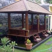 Saung Gazebo Size 2mx4m Bahan Kayu Kelapa (23241411) di Kota Bekasi