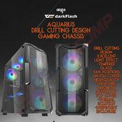 CASING PC GAMING AIGO DarkFlash AQUARIUS DRILL CUTTING DESIGN