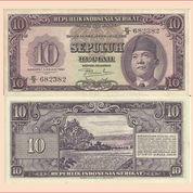 Uang Kertas Rp.10,- RIS Tahun 1950 (23291031) di Kota Jakarta Pusat
