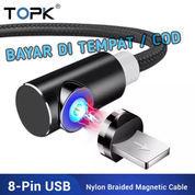 Kabel Usb Mikro Magnetik Kabel Untuk IPhone Samsung Huawei USB Tipe C Topk AM51.[COD]