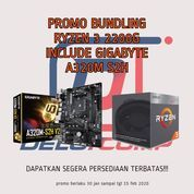 Promo Ryzen 3 2200G Include Gigabyte A320M S2H