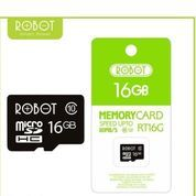 Memory Card Micro SD Mmc Class 10 80mb/S Robot 16gb Packing Original (23326467) di Kota Surakarta