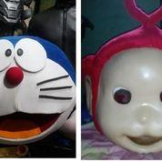 Kostum Badut Doraemon Dan Teletubies Merah