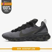 Sepatu Sneakers Nike React Element 55 Black Sequoia Original BQ