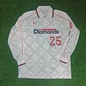 Original Urawa Reds 1997 - 1998 Away Match Worn Jersey Baju Bola