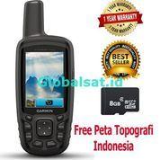 [Paket Lengkap] Garmin GPS Map 64SC Free Peta Topografi Indonesia