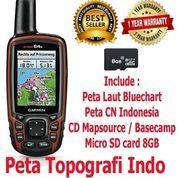 Garmin GPS Map 64S Free Peta Topografi & Bluechart Pacific Indonesia