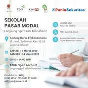 Sekolah Pasar Modal / Workshop Saham 7 Maret 2020