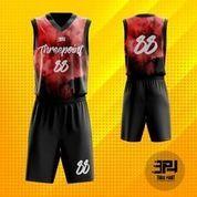 Threepoint Jersey Basket Red Flare Setelan Keren (23490727) di Kota Bandung