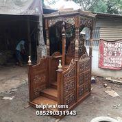 Mimbar Masjid Kubah Model Tangga Podium Masjid Kubah Murah