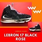Sepatu Basket NIKE LEBRON 17 BLACK ROSE