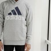 Jaket Adidas ESS Lin P/O FT Grey (23512979) di Kota Jakarta Barat