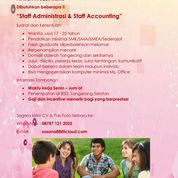 Lowongan Kerja Staff Administrasi & Accounting (23537887) di Kota Tangerang Selatan