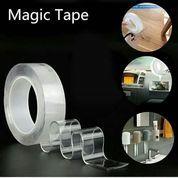 Nano Magic Tape Transparant Washable Reuse Ivy Grip Isolasi 3cm X 1m (23574147) di Kota Surabaya