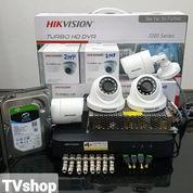 PASANG CCTV 4 CAMERA HIKVISION 2MP ORIGINAL GARANSI 2 TAHUN