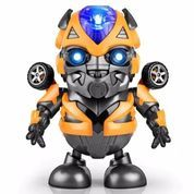 Mainan Anak Robot Dance Hero Joget Musik & Led BUMBLEBEE Transformer