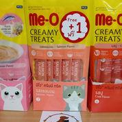 Meo Creamy Treats Salmon Flavor 60gr FREE 1 Pcs / Cemilan Kucing
