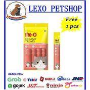 MeO Me-O Creamy Treats Snack Kucing Rasa Salmon Flavor 60gr FREE 1 Pcs