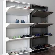 Rak Sepatu Besi Importa (Brown / White)