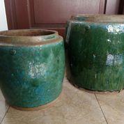 Guci Hijau Siam 23cm Dan 30cm Antique