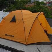 Tenda ?EIGER Warna Orange Mulus Doubel Layer Gampang Di Rakit
