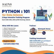 Python 101 For Data Science Training - Jakarta Class
