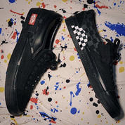 LEGIT - Vans Slip On Cut And Paste All Black Checkerboard Original