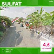 Tanah Kavling Murah Luas 180 Di Sulfat Utara Kota Malang _ 096.20 (23827559) di Kota Malang