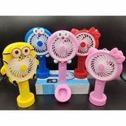 Kipas Angin Portabel Portable Genggam Led Mini Fan Karakter