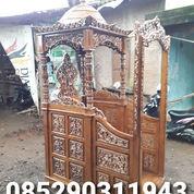 Mimbar Masjid Jati Ukir Gapura Mewah