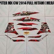 Striping Jupiter MX CW 2014 Full Hitam ( Merah )