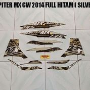 Striping Jupiter MX CW 2014 Full Hitam ( Silver )