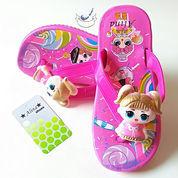 Sandal Karet Anak Perempuan Sendal Jepit Cewek Wanita Boneka LOL Cantik Bunyi (23868347) di Kota Tangerang