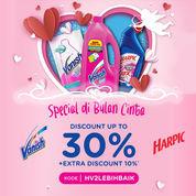 Blibli Promo Vanish & Harpic Mulai Dari Rp 4.000 + Ekstra Diskon 10% OFF!