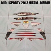 Striping Mio J Sporty 2013 Hitam - Merah