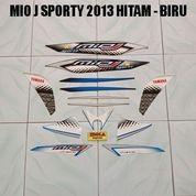 Striping Mio J Sporty 2013 Hitam - Biru