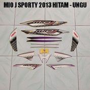 Striping Mio J Sporty 2013 Hitam - Ungu