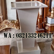 Podium Minimalis Warna Putih Kayu Jati (23909583) di Kab. Jepara