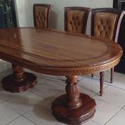 Meja Makan Kayu Jati Muda (23955103) di Kota Depok